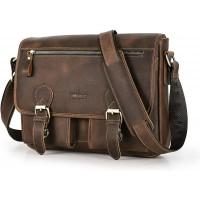 Contacts Echtes Leder Mens Laptop Case Mini Messenger Crossbody Tasche 12 Laptop Handtasche Dunkelbraun Schuhe & Handtaschen