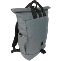 Daypack Rucksack aus Cordura - rolltop Backpack - Tagesrucksack für Damen und Herren - Hochwertiger Daypack - Wasserabweisend & flexibel - Rucksack roll top Herren - Rucksack roll Grey Koffer Rucksäcke & Taschen