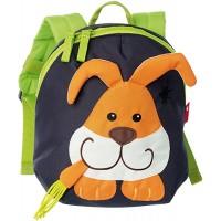 sigikid Jungen und Mädchen Mini Rucksack Motiv Hase Dunkelblau Orange 24218 Koffer Rucksäcke & Taschen