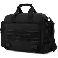 BAIGIO Taktisch Umhängetasche Herren Militär Schultertasche Wasserabweisend Aktentasche Laptoptasche für 15 6 Zoll Laptop für Reise Arbeit Sport Schwarz Koffer Rucksäcke & Taschen