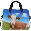 PUXUQU Schön Kuh auf der Wiese Laptoptasche 15.6 Zoll Koffer Rucksäcke & Taschen