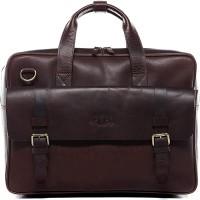 SID & VAIN Aktentasche echt Leder Elijah groß Businesstasche Bürotasche Laptoptasche Laptopfach 15.6 Ledertasche Herren braun Koffer Rucksäcke & Taschen