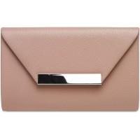 Caspar TA419 Damen XL Clutch Tasche Abendtasche Farbealtrosa GrößeOne Size Schuhe & Handtaschen