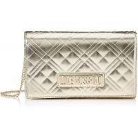 Love Moschino Damen Jc4247pp0a Clutch für den Tag Gold Platinum 7x14x22 Centimeters W x H x L Schuhe & Handtaschen