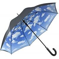 VON LILIENFELD Regenschirm Wolken Bayrischer Himmel Auf-Automatik Stockschirm Stabil Damen Herren Double-Layer Koffer Rucksäcke & Taschen