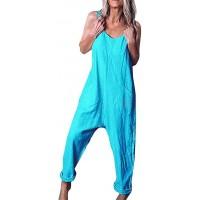 BOLAWOO-77 Latzhose Beiläufig Damen Jumpsuit Retro Overalls Lange Wide Leg Hosen Lose Bib Hose Festlich Lange Baggy Sommerhose Bekleidung