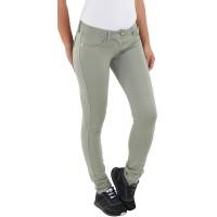 Sotala Damen Skinny Jeggings Röhrenhose Slim Fit Stoff Stretchhose Damenhose Treggings Hose Olive-Grün Bekleidung
