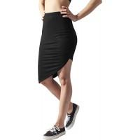 Urban Classics Damen Ladies Asymetric Viscose Skirt Rock Bekleidung