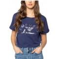 Tee Shirt à Rayures - - Frau Bekleidung