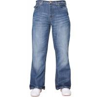 APT NEU Herren Designer einfach Bootcut ausgestellt weites Bein blau Jeans Jeans alle Bundweiten Bekleidung