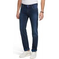 M 5 BY MEYER Herren Jeans M5 Slim 9-6207 - Five Pocket Denim schmale Hose im Used Look Bekleidung