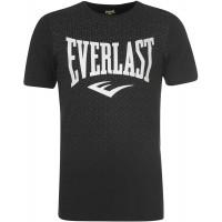 Everlast Herren Geo Print T Shirt Rundhals Baumwolle Kurzarm Bekleidung