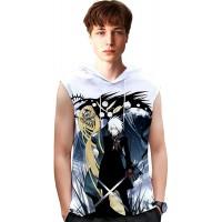 D.Gray-Man T-Shirt Männer Casual Tank Top Basic Mode Kleidungsstück Freizeit Sleeveless Sommer Hipster Weste Airy Soft Pullover Unisex Color A02 Size L Bekleidung
