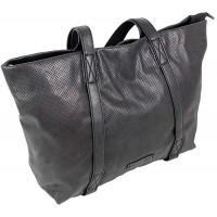 Edle Damen Handtasche Shopper Schultertasche mit 2 Henkeln Tragetasche Groß in 3 Farben 3448 Schwarz Schuhe & Handtaschen
