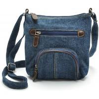 Jeans Umhängetasche Schultertasche Crossbody Bag Handtasche Messenger Bag für Damen im Cowboy Denim Style Hobo Fashion Blau Schuhe & Handtaschen