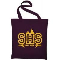 Styletex23 Sunnydale High School Buffy The Vampire Slayer Fan Jutebeutel Baumwolltasche maroon Schuhe & Handtaschen